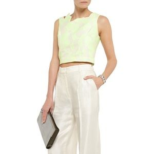 NEW 3.1 Phillip Lim Abstract Jacquard Crop Top 6